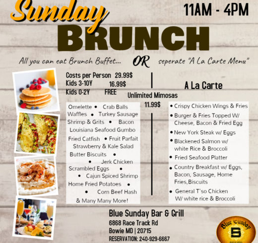 New Brunch & A la carte flyer